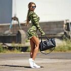 gagaopt autumn Ukraine women's Camouflage hooded dress army green long sleeve sh