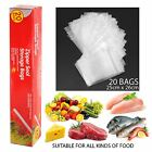 Zipper Seal Slide Lock Food Storage Bag Fresh Lunch Snack Freezer Organiser Bags