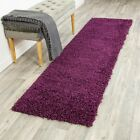 Purple Shaggy Contemporary Rug Soft Thick 5cm Modern Plain Carpet Fluffy Large