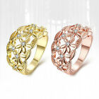 Women's Fashion Golden Hollow Flower Band Ring Wedding Party Engagement Ring New