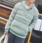 Casual men's pullover short style outwear cotton padded sleeve polyester pocket