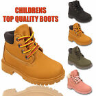 KIDS BOYS CHILDREN GIRLS LACE UP INFANTS HIKING WINTER COMBAT ANKLE HI TOP BOOTS