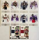 2007 Donruss Threads JERSEY Cards Including Serial #d Rookies You Pick From List