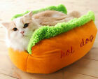 Hot Dog style Pet sleeping bed/ nest, kennel, dog/cat nest ,cave ,Pet Supplies