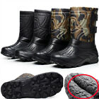 Men Winter Camo Warm Snow Ski Fleece Ankle Boots Waterproof Fishing Hiking Shoes