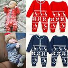 New Christmas Baby Girls Boys Knitted Xmas Animal Print Romper Clothes N4U8