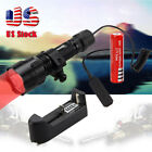 Military 5000lm T6 GREEN RED LED Flashlight Rifle 25mm Mount Rechargeable 18650