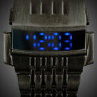 INFANTRY Mens LED Digital Wrist Watch Date Day Pilot Sport Army Stainless Steel
