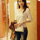 Hot New Women Lady Slim Lace Top Long Sleeve Casual T Shirt Blouse