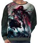 Spear Warrior Next To Black Wolf Men's Long Sleeve Sweatshirts aam43839