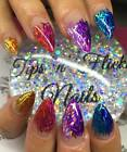 Tinsel Stands Strips Holographic Rainbow Mirror Neon 5ml Pot Nail Art