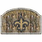 "NFL New Orleans Saints 11 x 17"" Real Tree Camo Wood Gone Hunting Sign Brand New"