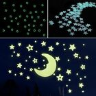 100pcs Home Wall Sticker Glow In The Dark Star Decal Baby Kids Room Bedroom