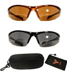 Bifocal Sport Safety Glasses UV Protection Reading Glasses Sun Readers + Case