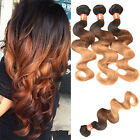Long Brazilian Body Wave Real Human Ombre Weft Hair Bundle Extesions Famous
