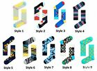 NEW Happy Socks Cotton Blend Patterned Size 36-40 UK 3.5-6.5 Multicoloured