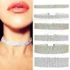 Fashion Women Full Diamond Crystal Rhinestone Choker Necklace Wedding Jewel Chic