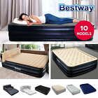 Bestway Air Bed  Inflatable Mattress  Pump Flocked Home Camp Single Double Queen