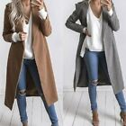 Women Slim Winter Warm Lapel Long Coat Trench Parka Jacket Overcoat Outwear