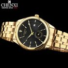 CHENXI Gold Watch Men Watches Top Brand Luxury Famous Wristwatch Male Clock Gold
