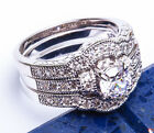 2.5CT PRINCESS CUT ANTIQUE STYLE ENGAGEMENT .925 Sterling Silver Ring Sizes 6-9