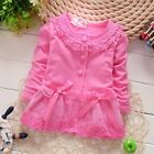 baby girl clothes cotton lace coat spring fall outerwear baby girl cardigan bow