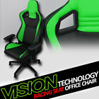Blk/Green With Stitches PVC Leather Mu Racing Bucket Seat Game Office Chair Vt09 $ USD