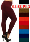 High Waist Fleece Legging Warm Seamless Jeggings Skinny Full Length Pants S-2xl