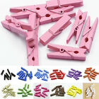 20 -100 Mini Wooden Craft Pegs / Photo Clips, 35mm choose colour LAN