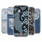 HEAD CASE DESIGNS JEANS AND LACES SOFT GEL CASE FOR HTC ONE M8