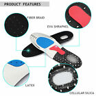 Pair Men Gel Orthotic Sport Running Insoles Insert Shoe Pad Arch Support Cushion