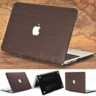 """Dark Brown Wooden Leather Coated Matte Case Skin for MacBook Air 11"""" Pro 13"""" 15"""""""
