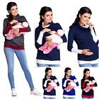 Women Maternity Clothes Breastfeeding Tops Nursing Long Sleeve T-shirt Blouse