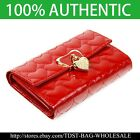 [OMNIA]Korea Crystal Heart  Leather Purse Wallet  Trifold KR317M for Love image