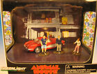 GREENLIGHT 1:64 DIECAST ANIMAL HOUSE DIORAMA WITH RED CORVETTE AND 3 FIGURES