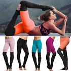 Womens Yoga Fitness Leggings Running Yoga Gym Workout Sports Pants Trousers New