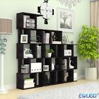Home Furniture S Shape Storage Display Unit Wood Bookcase Bookshelf Shelves