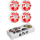 BONES Skateboard Wheels 100's White with INDEPENDENT ABEC 7 Bearings