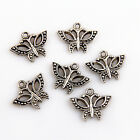 15/50/150Pcs Znic Alloy  Butterfly Charms Pendants For DIY Making 15x19mm
