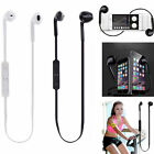 Wireless Bluetooth Headset Stereo Headphone Earphone Sport for iPhone Samsung Q