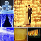 5 pcs 300 600 LED Fairy curtain String light  Xmas Christmas Wedding Decor Light