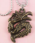 P030 Acrylic pendant iron or Stainless Steel chain you pick Dragon new
