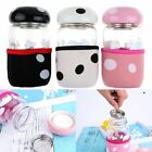 Mini Cute Mushroom Portable Glass Water Bottle With Tea Filter Protective Pouch