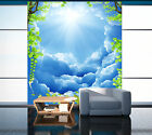 3D White Clouds Sky 5 Wall Paper Wall Print Decal Wall Deco Indoor AJ Wall Paper
