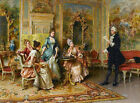 Wall Decor Art Print Court Lady Intercourse Oil painting Printed on Canvas P037