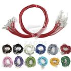 12 Colour 10Pcs Leather Cord Wire With Lobster Clasps Necklace Chain 460/510mm