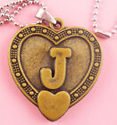 P094 Acrylic pendant iron or Stainless Steel chain U pick Letter J love heart