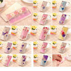 Genuine Dried Flowers Case + Diamond TPU Silicone Cover Skin For Mobile Phones