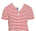 Ralph Lauren Denim & Supply Mens Slim American Flag Striped Henley Button Shirt
