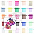 50/100/200pcs Premium Gift Organza Bags Wedding Favor Ring Candy Pouches 9x12cm